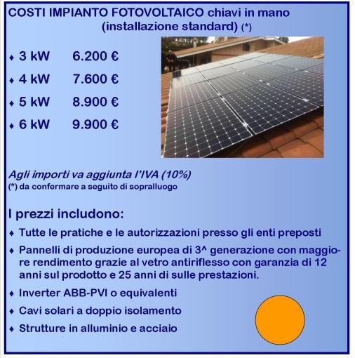 Preventivi costo impianto fotovoltaico